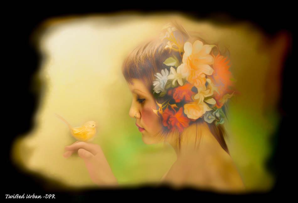 Girl Painting by adiva4u2004