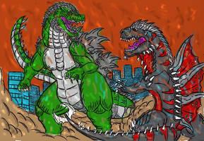 Almaster09 Godzilla vs Tyrannogonos Color