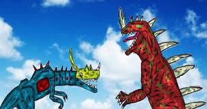 Mecha Rockor vs King Teronos