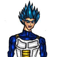 Vegeta Blue Saiyan Evolution