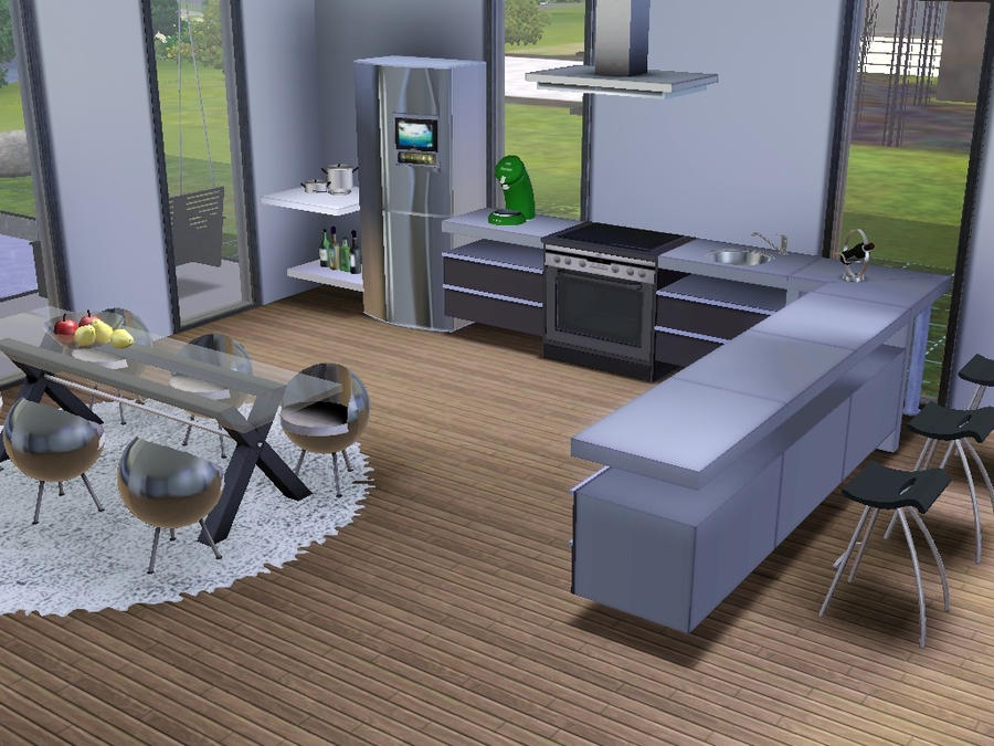 Sims 3 kitchen by echo cha on deviantart for Kitchen ideas sims 3