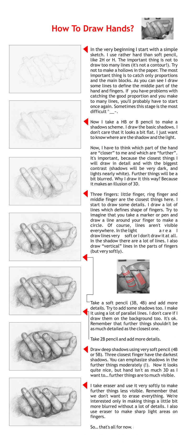 Tutorial: How To Draw Hands