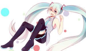 Hatsune Miku - Tell Your World remix art