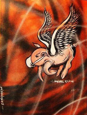 Swine Flew by Raggatron