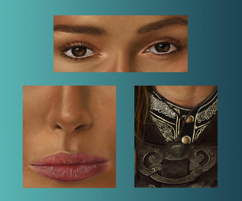 Keira Knightley close-up by phantastes