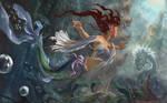 Underwater Duel by phantastes