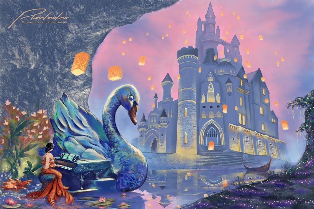 Mermaid and the Swan Piano by phantastes