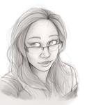 sketch practice 4 - self portrait