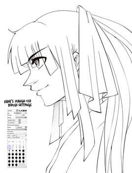 Manga-ish Ink Brush