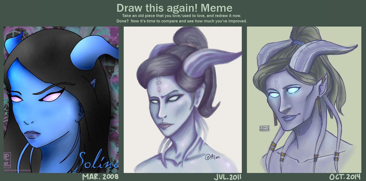 Draw It Again Meme 2 take 2 by kamidoodles