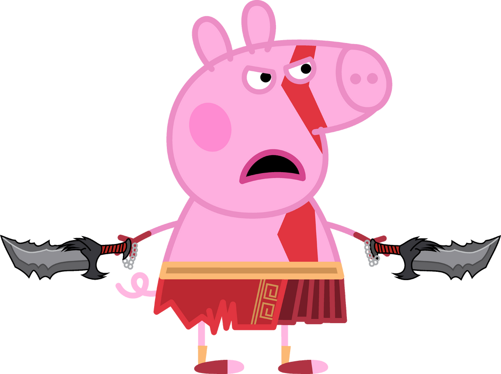 Peppa Pig as Kratos (form God of War) by ncontreras207