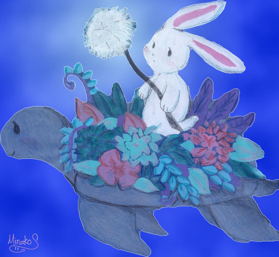 Bunny in the dark by Minako001