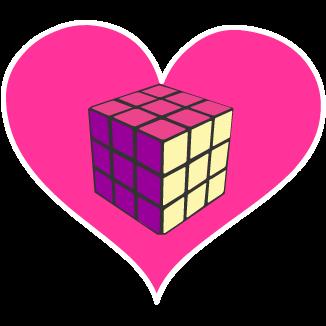 Flirty Cube cutiemark by Stormchaser-The-Pony