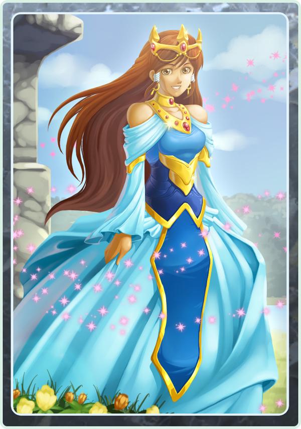 Card design - Princess by LightBlackStudios