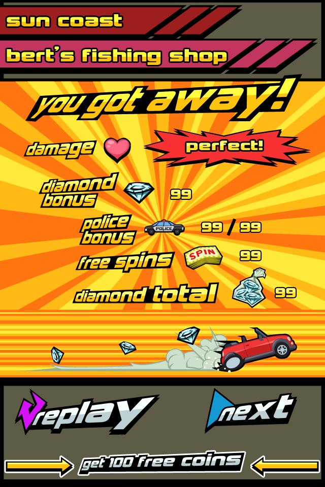 Mockup screenshot - dodging racer - results screen by LightBlackStudios
