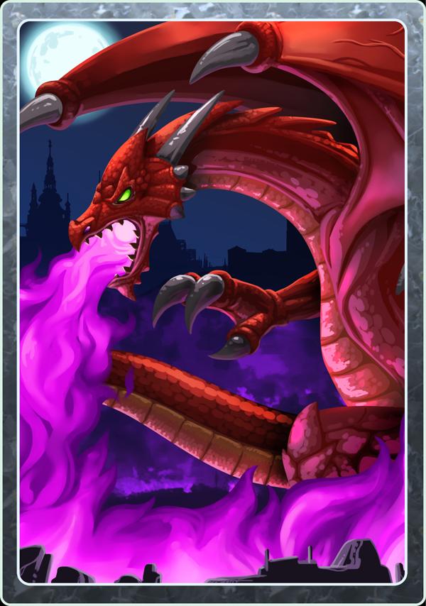Card Design - Dragon by LightBlackStudios