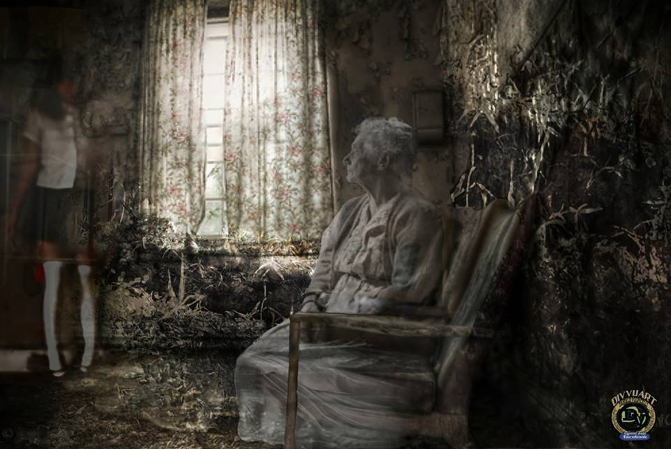 Ghost in old room by DivvuartRome