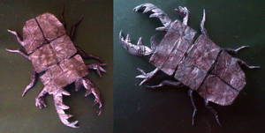 stag beetle origami
