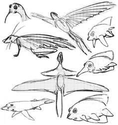 Alien Sketch Dump 3 by PeteriDish
