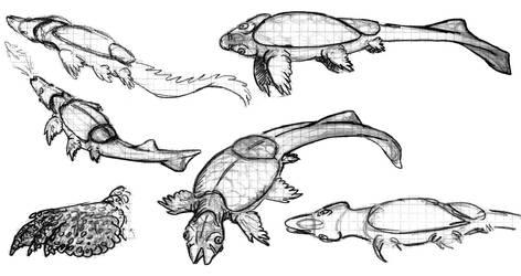 Alien Sketch Dump 4 by PeteriDish