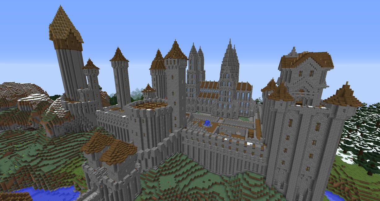 Minecraft castle wip 4 by peteridish