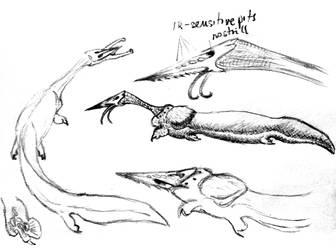 alien sketch dump 2 by PeteriDish