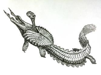 alien river wyrm by PeteriDish