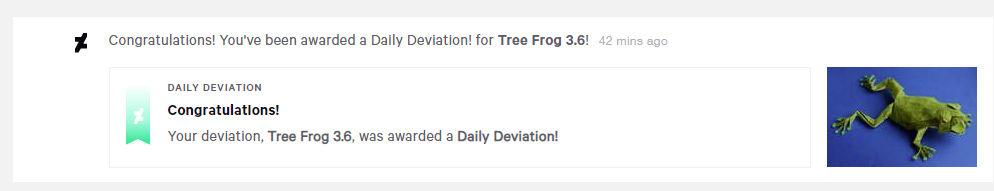 I got a Daily Deviation! :O