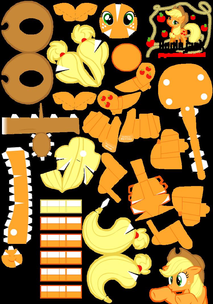 Applejack 2 Papercraft Pattern by Rettro