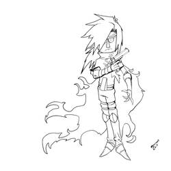 Lineart(needs color) by arkeelious1998