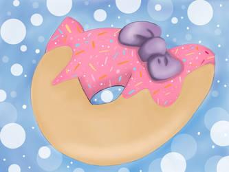 Cute kitty donut by Dpotrait