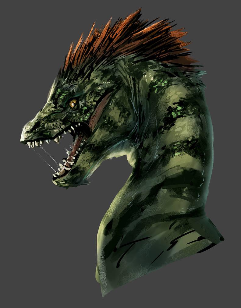 A brutal dragon by HatonoMotom