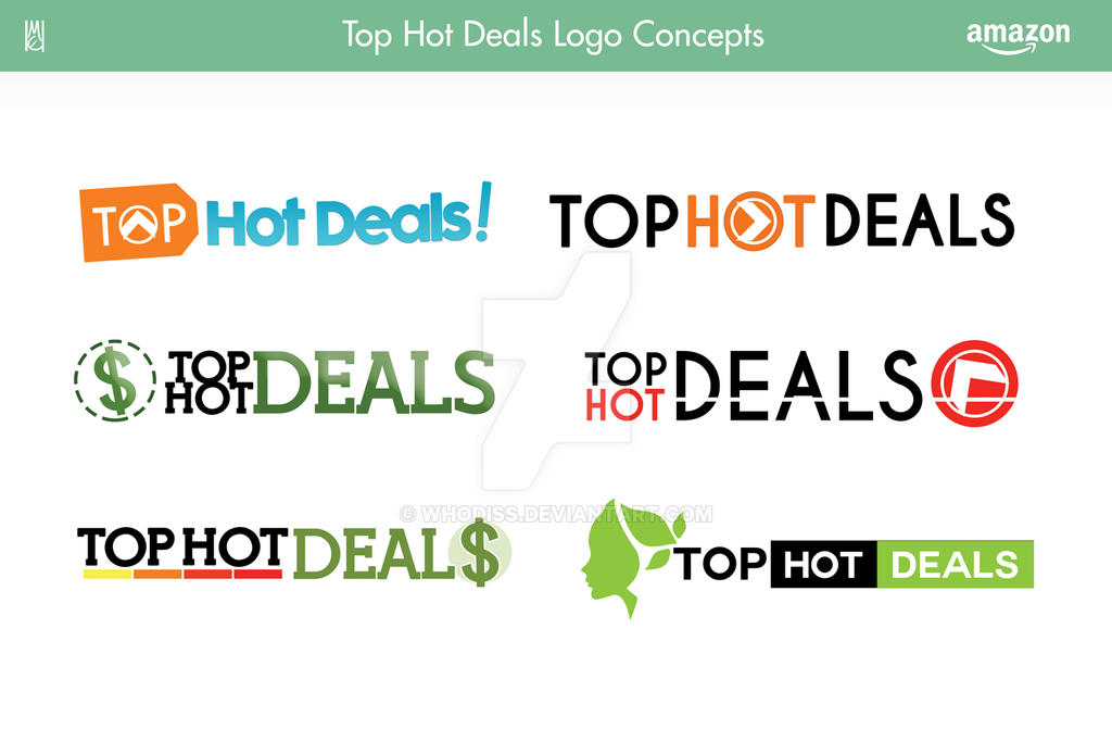 Top Hot Deals Logo Design Concepts by Whodiss