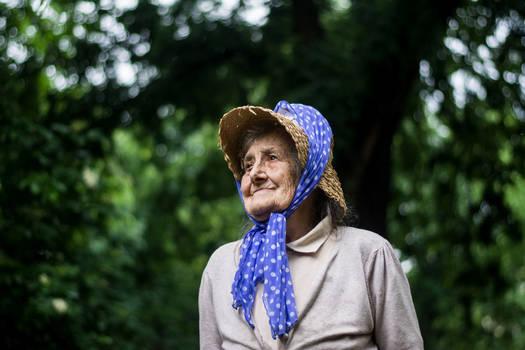 Mima in her garden