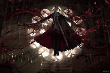BLOODBORNE: Blood explosion by MiraMarta