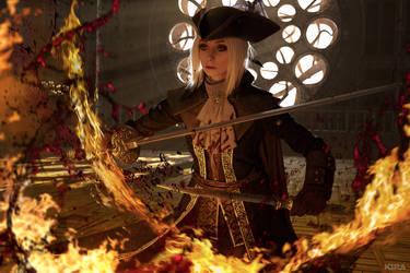BLOODBORNE: Blood and fire by MiraMarta