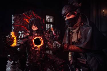 Bloodborne Dark souls 3 Ringed knight Good Hunter