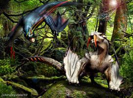 Monster Hunter - Nargacuga vs Barioth by cyevidal10