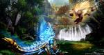 Monster Hunter - Jinouga vs Rajang