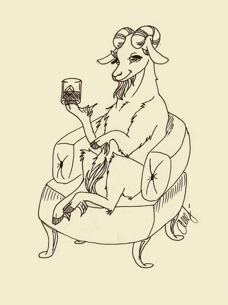 Bourbon Goat by shatterheart