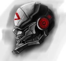 Sci-Fi Helmet Design by DreadMou5e