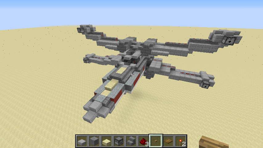 MINECRAFT Star Wars X-WING -Angriffsmodus- I Let's Build ...