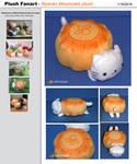 San-X Fanart - Nyanko Mooncake plush