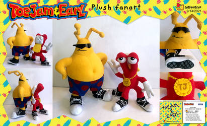 ToeJam and Earl plush - fanart by catfruitcup