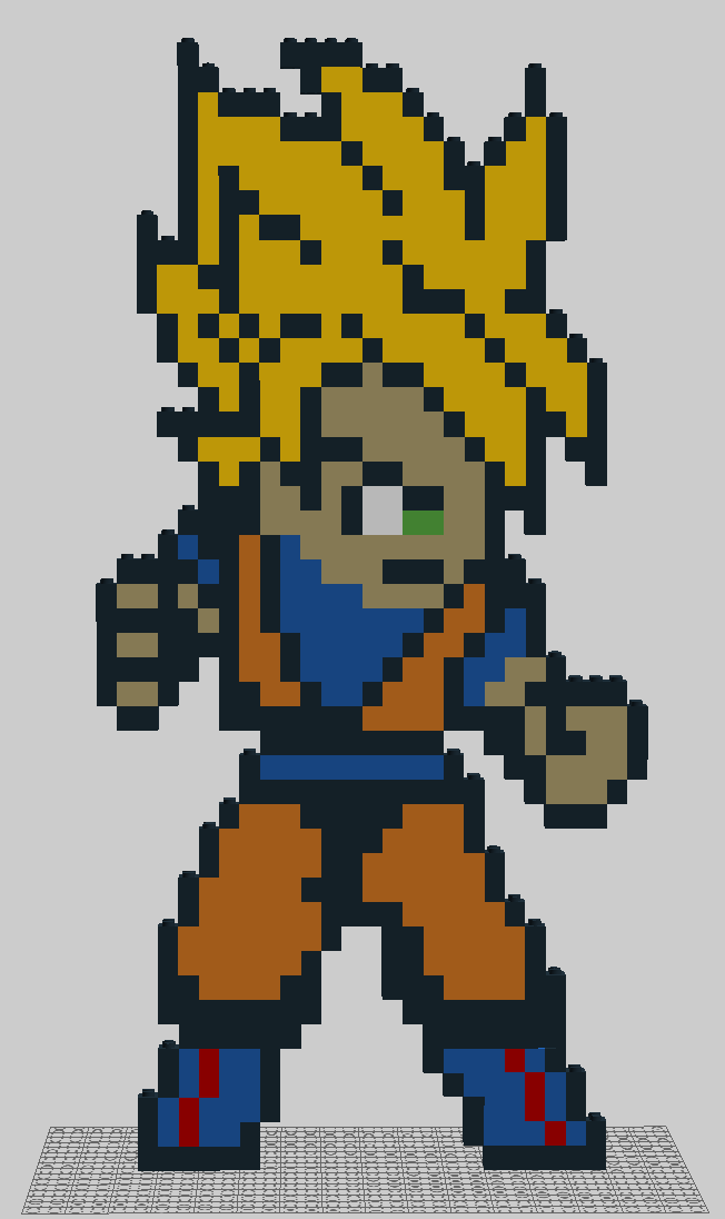 Super Saiyan Goku (LEGO Digital Designer) by