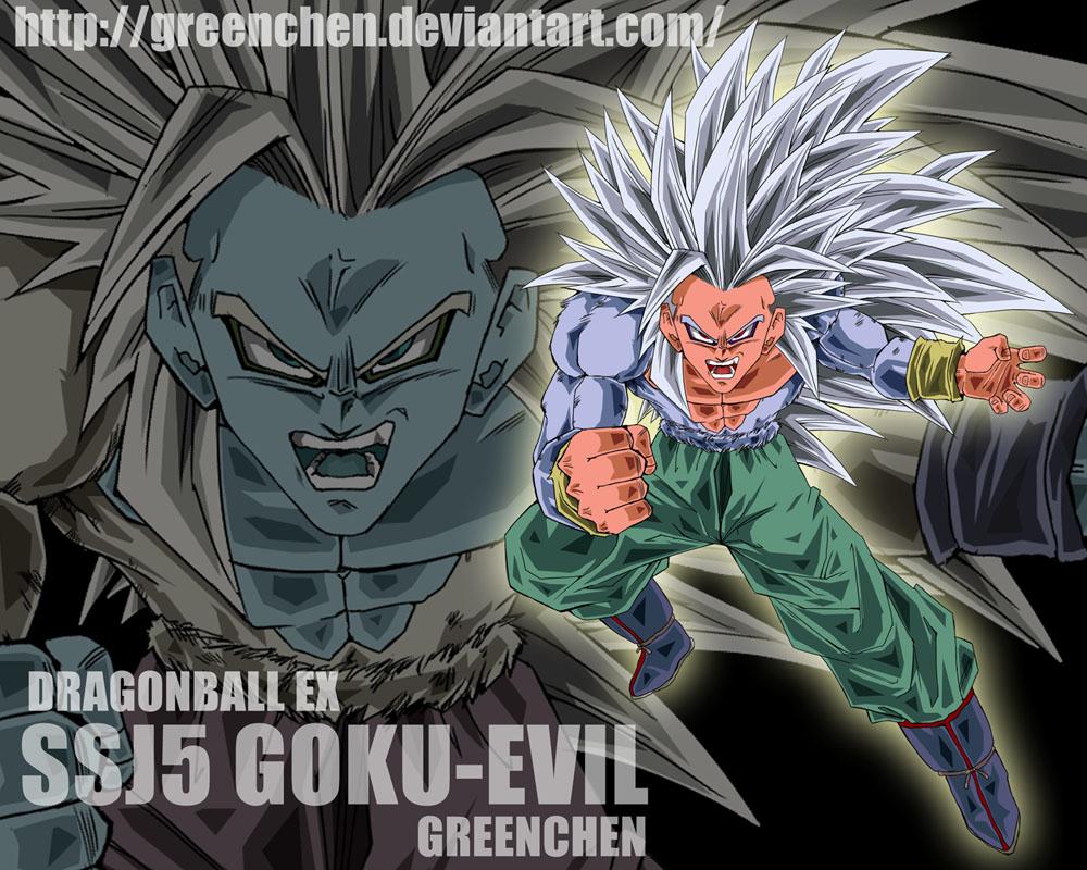 Evil-Goku Fanart by Greenchen by Sebliet