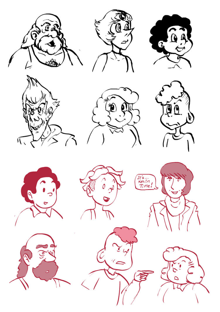Scribble Drawing Style : Steven universe asterix tintin style by tresenellaart on