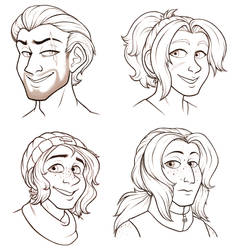 Character headshots by TresenellaArt