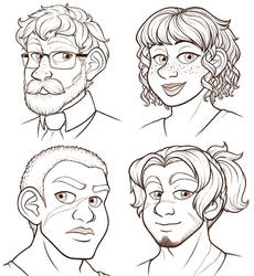 Character headshots 2 by TresenellaArt
