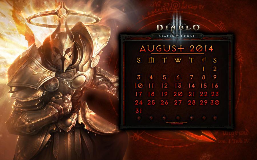 Caldendar #3: August 2014 by Holyknight3000
